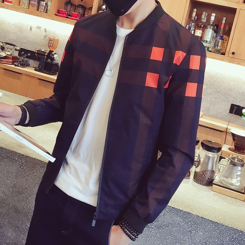 Großhandel Klassische Plaid Jacken Männer Mantel Slim Fit Mode Herren  Bomber Jacken Hiphop Streetwear Windbreaker Männlichen Baseball Jacke Für  Männer Von ... 7fc202d2d8