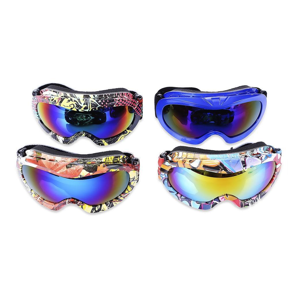 dc8a83e1c5b7 Kid UV Protection Double Anti-fog Lens Spherical Skiing Glasses Snow ...