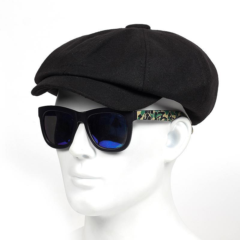aa2fb090edbe8 Compre 2018 Sombreros De Invierno Gorro De Lana Protección Para Los Oídos  Sombrero De Hombre Caliente Boinas Plegables Ocio Espesar Gorra De Soldado  Touca A ...
