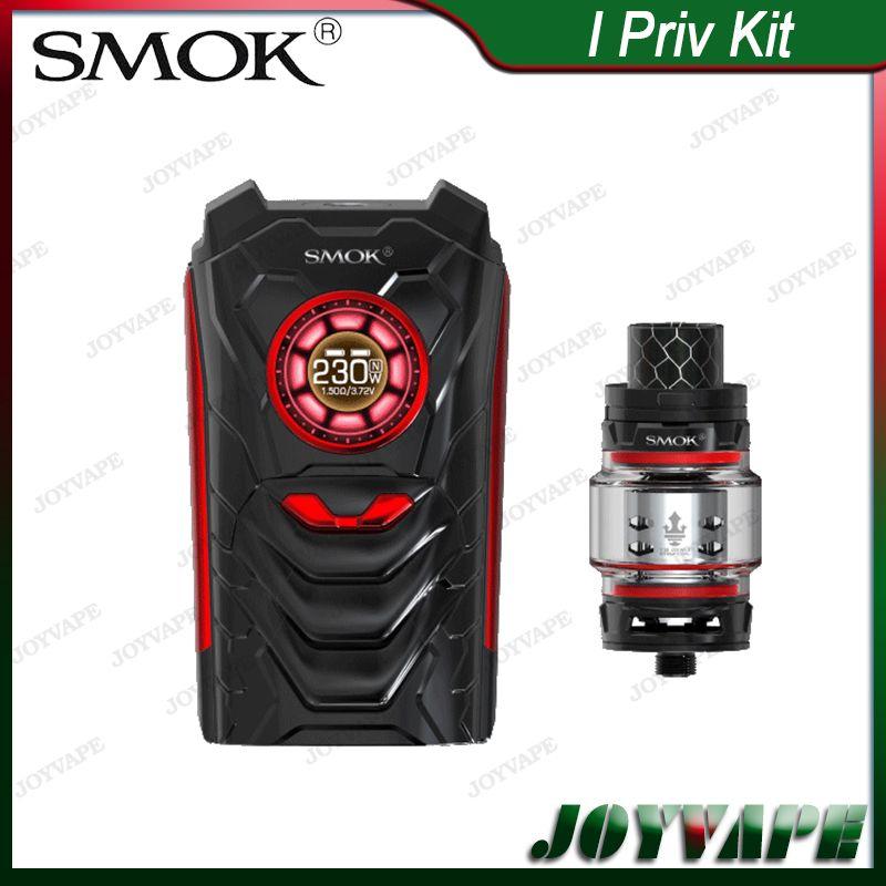 SMOK I-PRIV KIT 230W mit I Priv Sprachsteuerung AI Mod TFV12 Prince Tank 8ml Streifen Mesh Coil im Lieferumfang enthalten 100% Original
