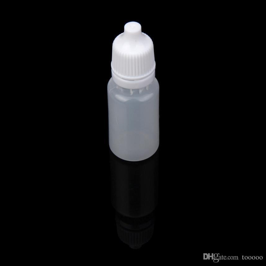 10 ml bouteilles compte-gouttes en plastique livraison gratuite / NOUVEAU LDPE Dispense Store la plupart des liquides gouttes pour les yeux