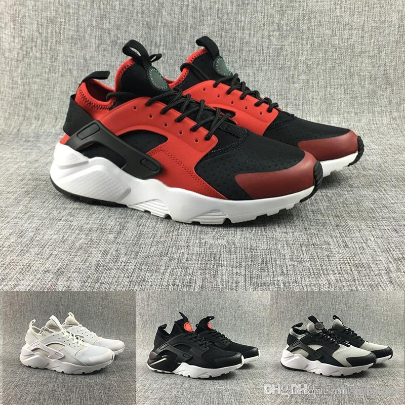 newest 9ccb1 b2d6e Acquista Nike 2018 New Air Huarache 4 Iv Ultra Scarpe Da Corsa Uomo Donna  All Red Huraches Huaraches Mens Scarpe Da Ginnastica Hurache Sneakers  Sportive ...