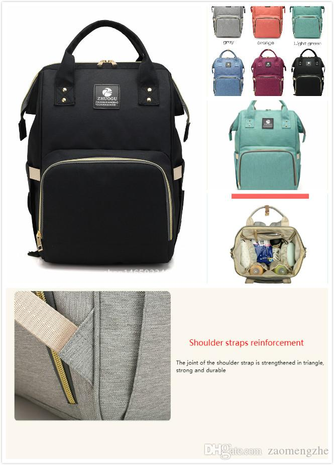 2018 Diaper Bags Mommy Backpack Nappies Backpack Fashion Mother ... deebefdffd1d8