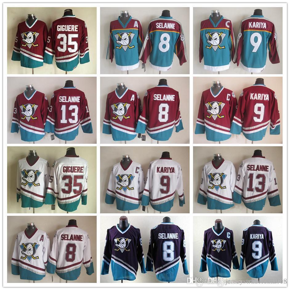 3386f893f48 Anaheim Mighty Ducks 8 Teemu Selanne 13 9 Paul Kariya 35 Jean ...
