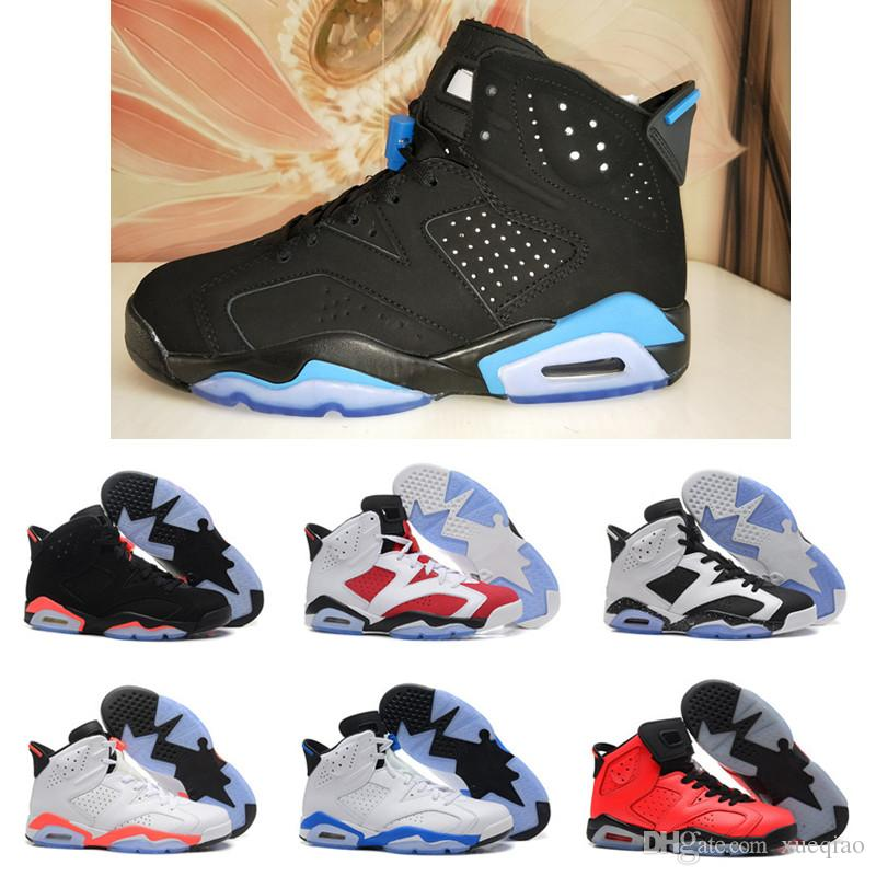 e1ac5ee5fa5 Mens Basketball Shoes 6 6s Black Cat Infrared Sports Blue Maroon ...