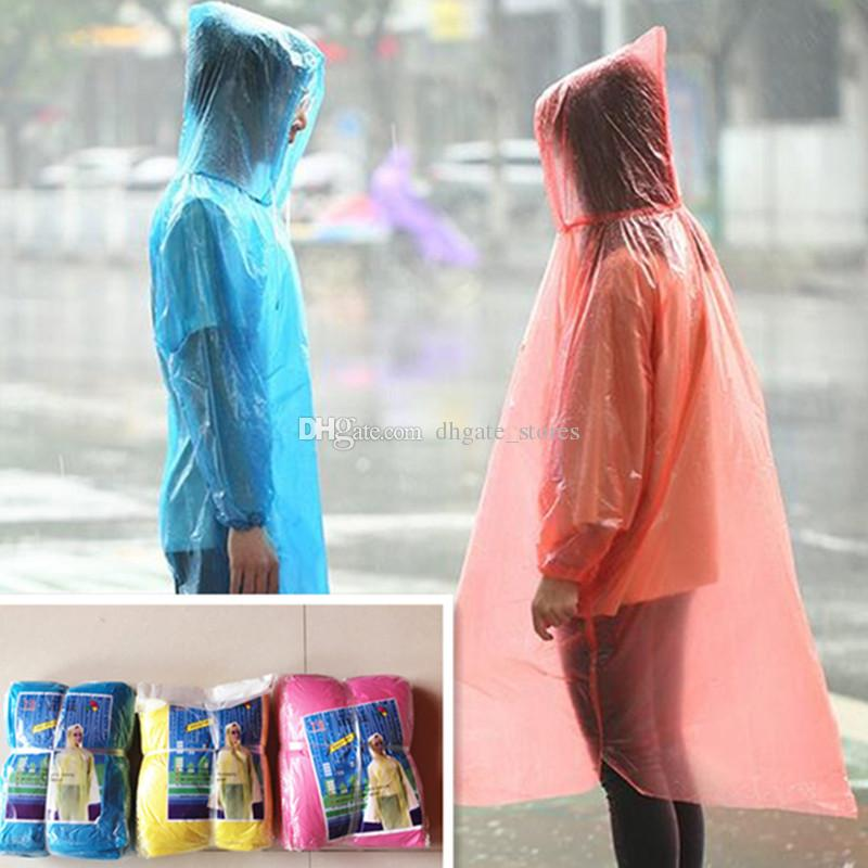 4309997d9069 DHL One Time Raincoat Disposable PE Raincoats Poncho Rainwear Travel ...