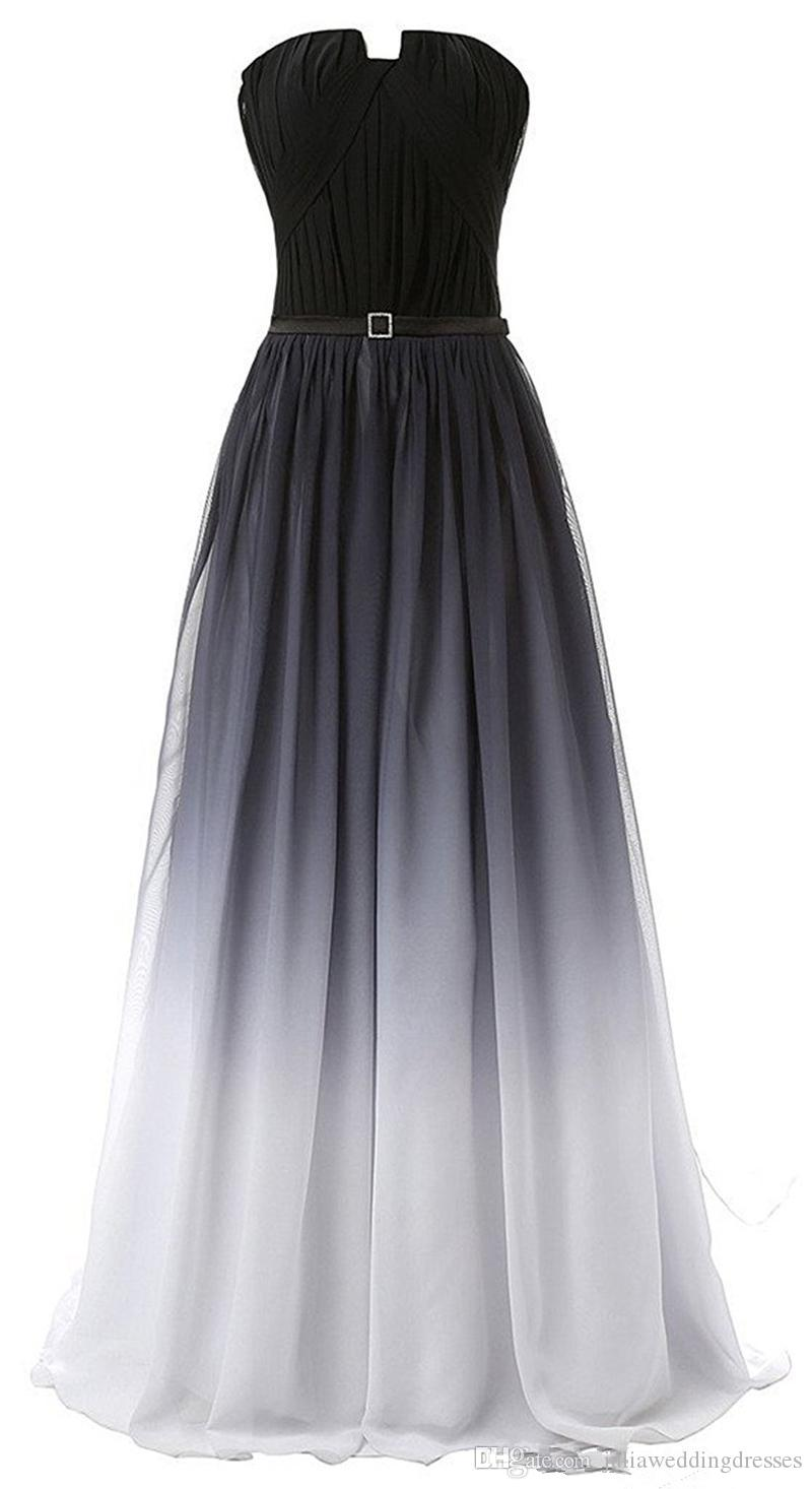 36871bcbaab 2018 New Gradient Prom Dresses With Long Chiffon Plus Size Beaded Ombre  Evening Formal Party Gown Floral Prom Dress Formal Dresses 2015 From ...