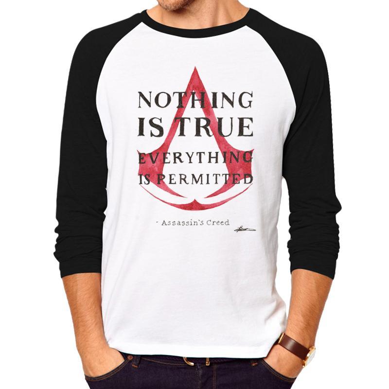 a8ae117c3 Assassin's Creed printed hot anime t shirt clothes Ken Kaneki long sleeve  Assassins Creed T-shirt men tshirt casual shirt
