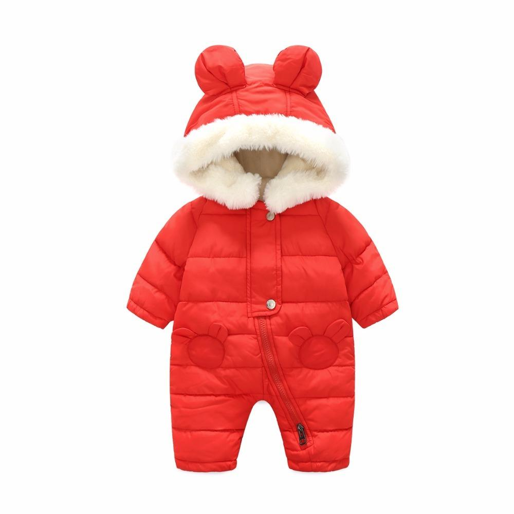 a87f7cf12 Baby Parkas Newborn Clothes 2018 Autumn Winter Jumpsuit Baby Girls ...