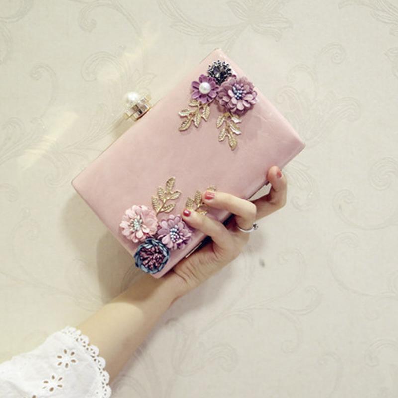 2018 Qualitäts-Frauen-handgemachte Blumen Abendtaschen Mini-Hochzeit Abendessen Taschen Luxus Kupplungs-Geldbeutel-Handtasche