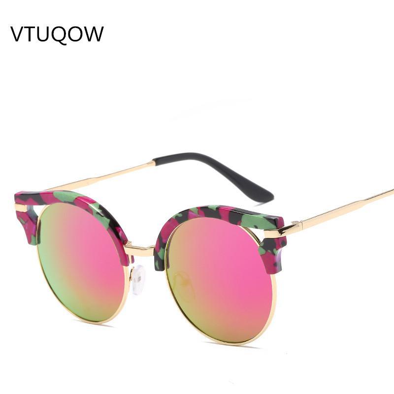 Compre 2019 Nuevo Ojo De Gato Gafas De Sol Mujer Diseñador De La Marca  Lente De Recubrimiento Gafas De Sol Para Mujer Mujer Señora Espejo Gafas De Sol  Gafas ... b856315a6105