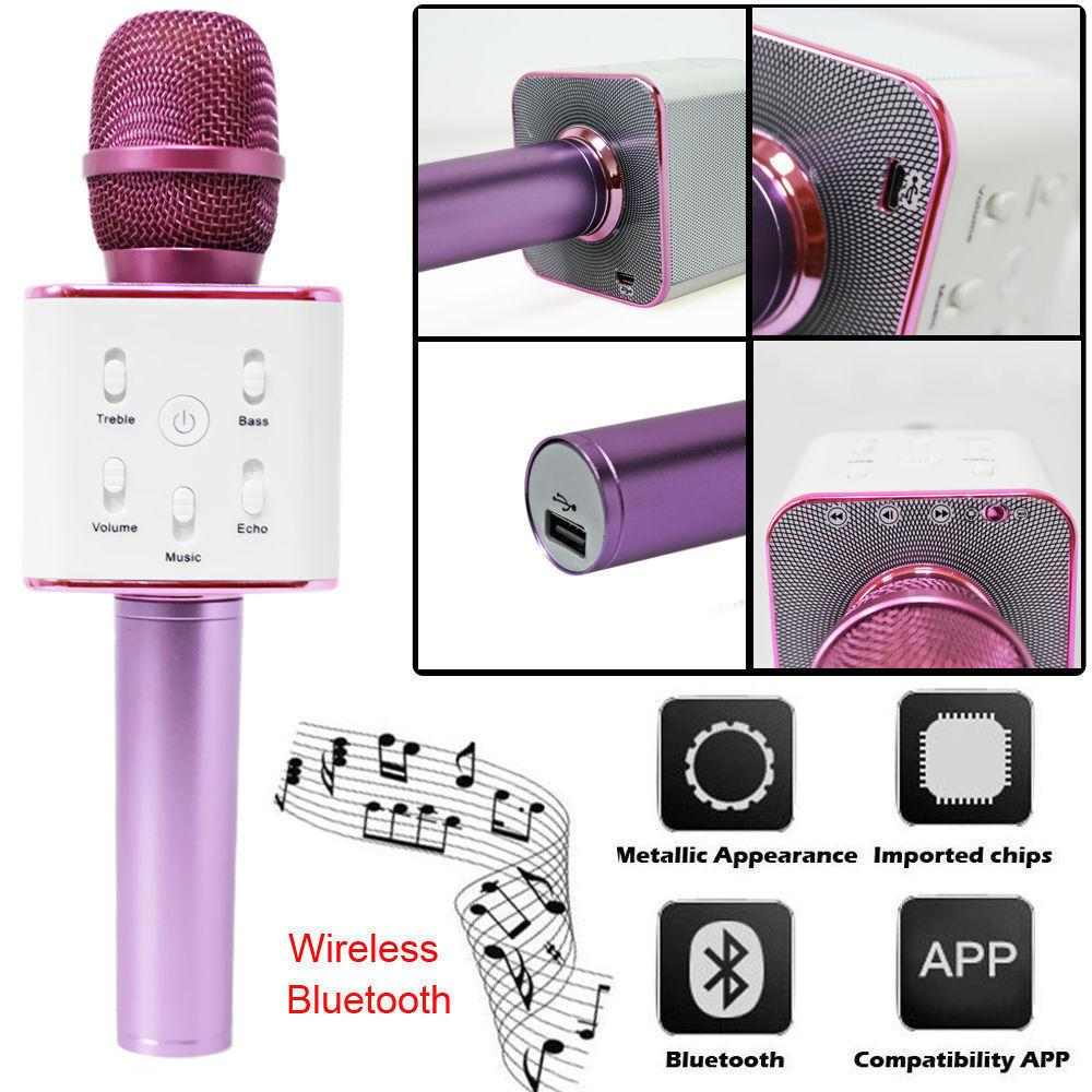 Wireless Karaoke Microphone Bluetooth Speaker 2-in-1 Handheld Sing &  Recording Portable Microfoon Ker for iOS/Android