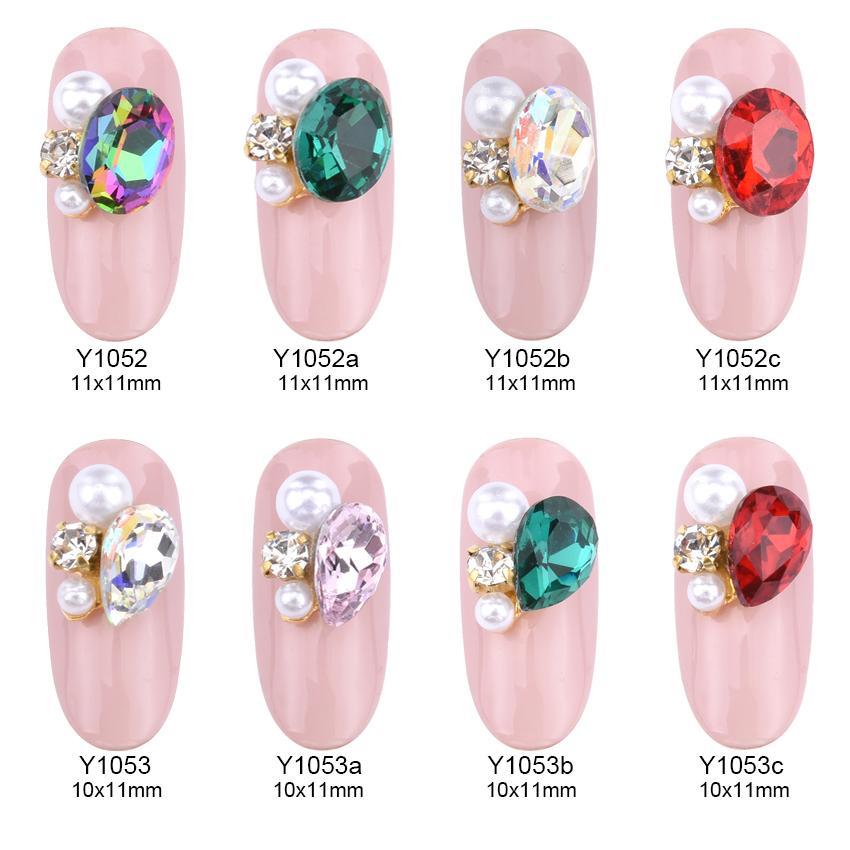 3d Nail Jewelry Nail Art Strass Crystal Rhinestone Drop Glass