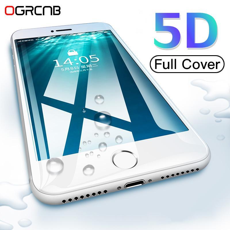 0099f66922a Protetor De Pantalla 5D Borde Curvado De Vidrio Templado Para IPhone 6 6s  Plus 7 8 Protector De Pantalla Cubierta Completa Para IPhone 8 7 6 Plus Film  ...