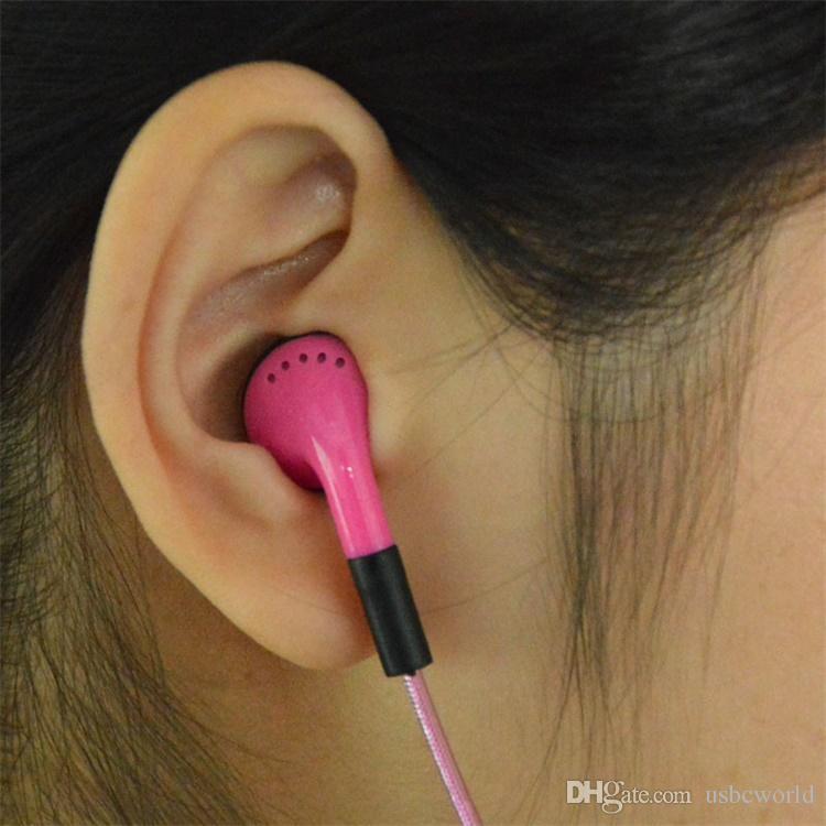 EL LED Luminoso brillante auricular LED luz de la noche en los auriculares del oído Auriculares planos brillan en el auricular oscuro para el teléfono móvil Iphone