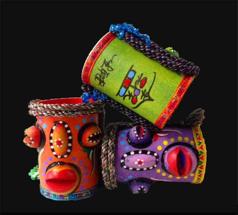 The painted eyes pen Yunnan features Home Furnishing wooden gifts crafts creative design jewelry ornaments