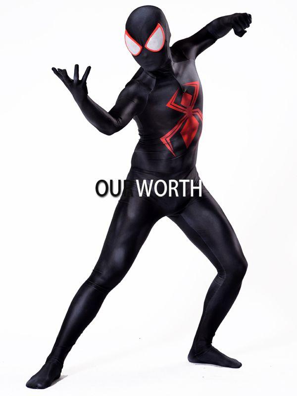 2018 Newest Comic Spiderman Male Superhero Costume 3D Print Cosplay Costume Spider-man Costume Custom Made