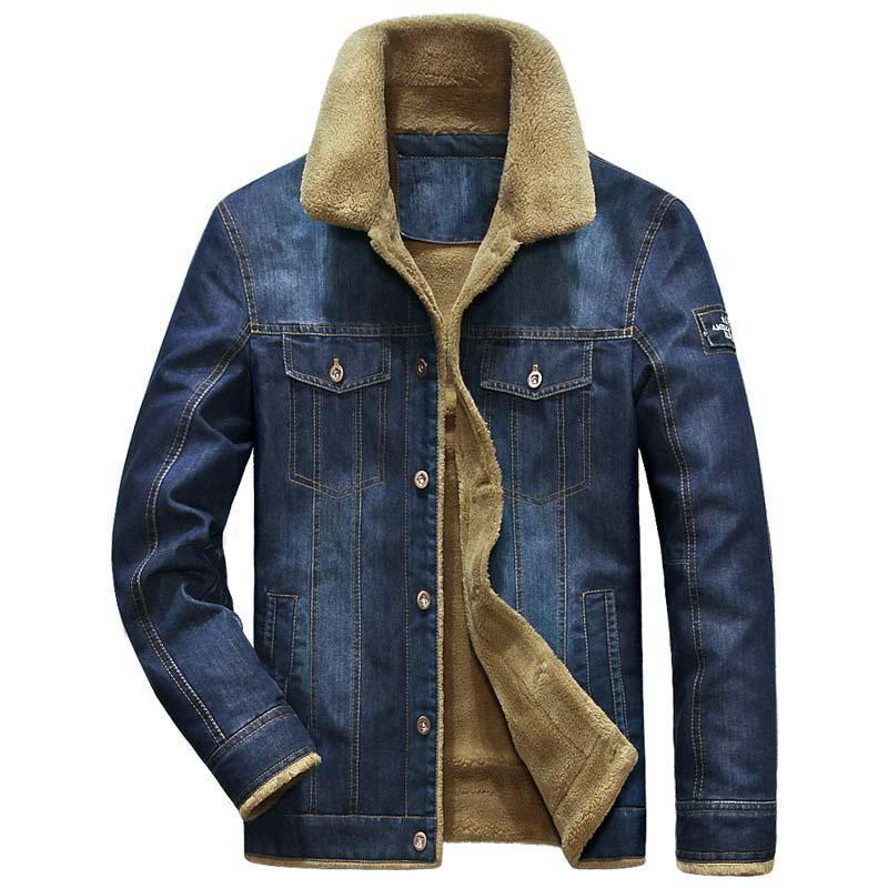 Lässig Kleidung Plus Fleece Männliche Futter Parka Windjacke L Warme Samt Größe Winter Mantel Männer Herbst Cowboy Weiche 5xl Jeansjacke eWDI9EH2Yb