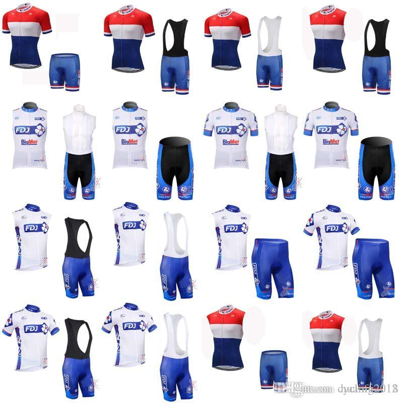 cd895059d 2018 Team FDJ Wear Cycling Jersey 3D Gel Pad Bike Bib Shorts Set Breathable  Quick Dry MTB Ropa Ciclismo Mens Summer Maillot F0731 Cycle Jersey Cheap  Cycling ...