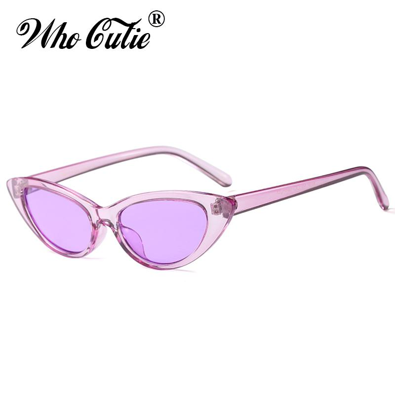 8c6fb34a90a 2018 Small Crystal Cat Eye Sunglasses Women Luxury Brand Designer 90s  Vintage Retro Frame Modern Red Tint Cute Sun Glasses For Ladies Shades  Vuarnet ...