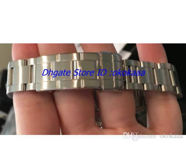 Com caixa original dos homens relógio de pulso sem data mostrador preto pulseira de aço inoxidável 40mm mecânico automático mens watch relógio de pulso 14060