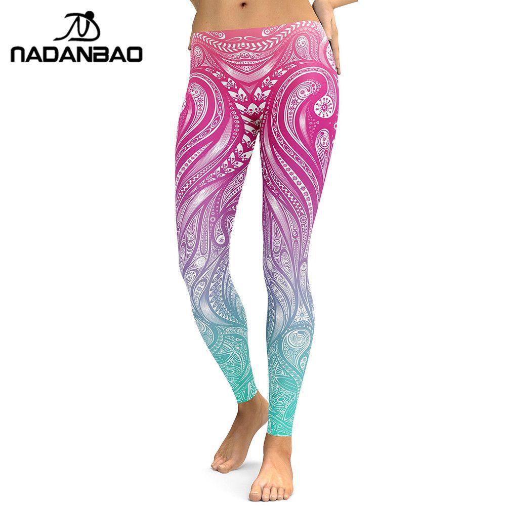 884dfb54c5bb17 2019 NADANBAO New Design 2018 Leggings Women Mandala Flower Digital Print  Legging Fitness Leggins Elastic Workout Plus Size Pants From Maoyili, ...