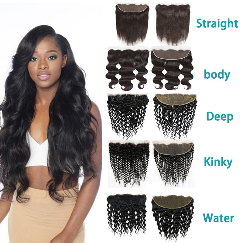 brazilian straight body wave hair 13x4lace frontal closure deep ...