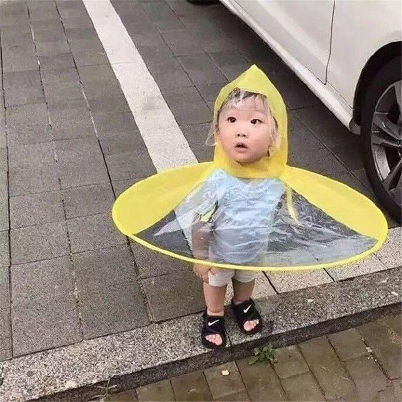 92f707c13efa 1pc Creative Raincoat Umbrella Headwear Hat Cap Foldable Outdoor Fishing  Golf Child Adult Rain Coat Cover Transparent Umbrellas