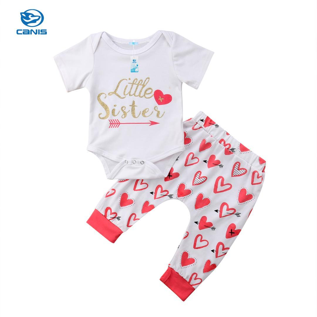 63249c1a6 2019 Fashion Toddler Infant Kid Baby Girl Sweet Heart Cotton Romper Jumpsuit  Bodysuit Clothes Pant Outfit 0 18M From Yohkoh, $38.68 | DHgate.Com