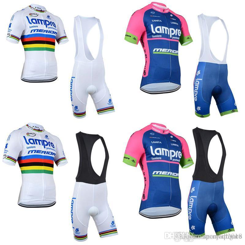 LAMPRE Team Cycling Short Sleeves Jersey Bib Shorts Sets Pro Team ... a340929a7