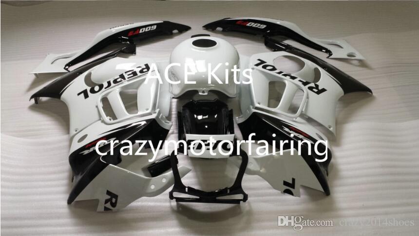 Kit carénage de moto pour HONDA CBR600F3 97 98 CBR600 F3 CBR 600F3 1997 1998 ABS chaud Blanc Noir Carénages + 3 leviers 32