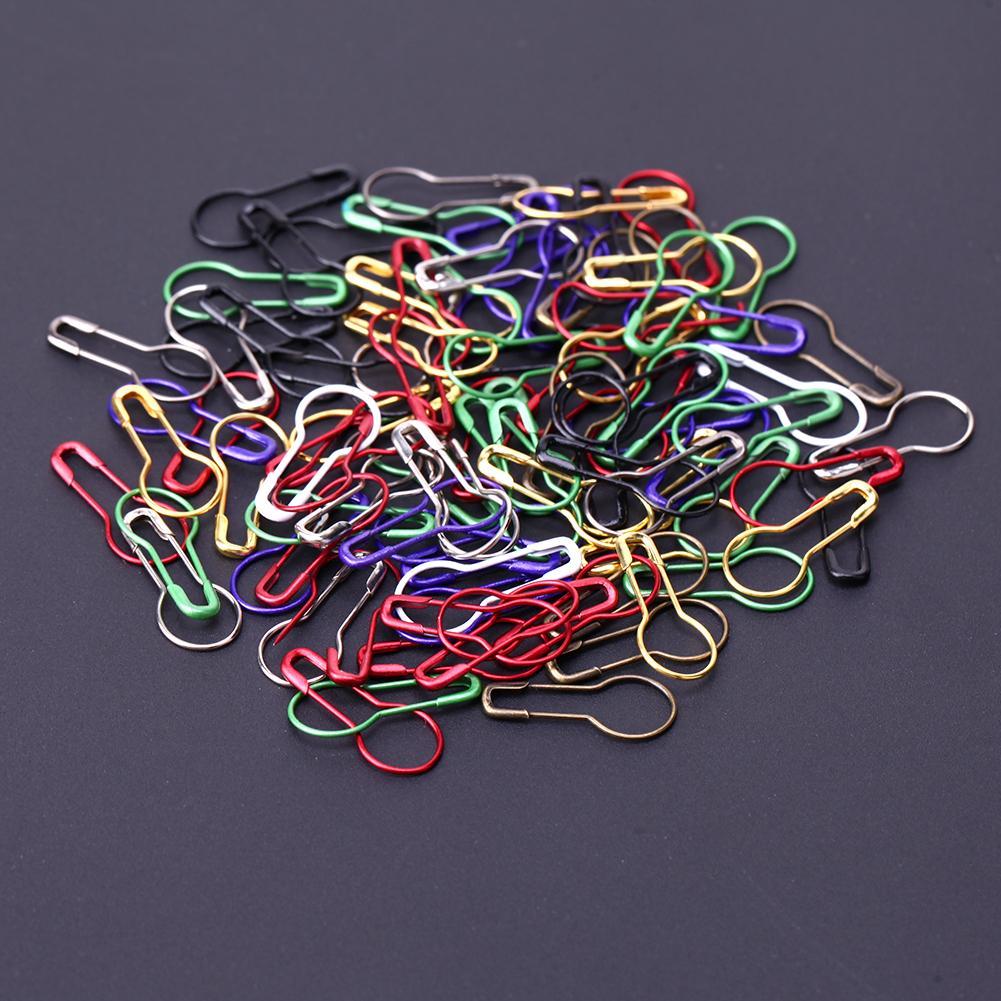 Mischfarbe Sicherheitsnadeln Kalebasse Kürbisform Sicherheitsnadel Marker Pins Handwerk Nähen Stricken Stich Halter Zubehör 1000 stücke