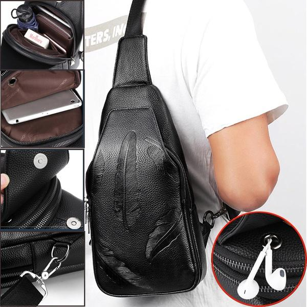a1feea96ad0b Men S Sling Bag Soft Leather Chest Shoulder Backpack Crossbody Pack Anti  Theft For Travel Hiking School Handbags Wholesale Purses For Sale From  Krllll