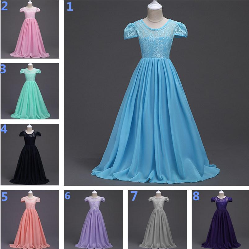 d41e2b5084b0d Children Big Girl Wedding Dress Lace Chiffon Princess Dresses Kids Girls  Summer Princess Party Dress Clothes 6-16T