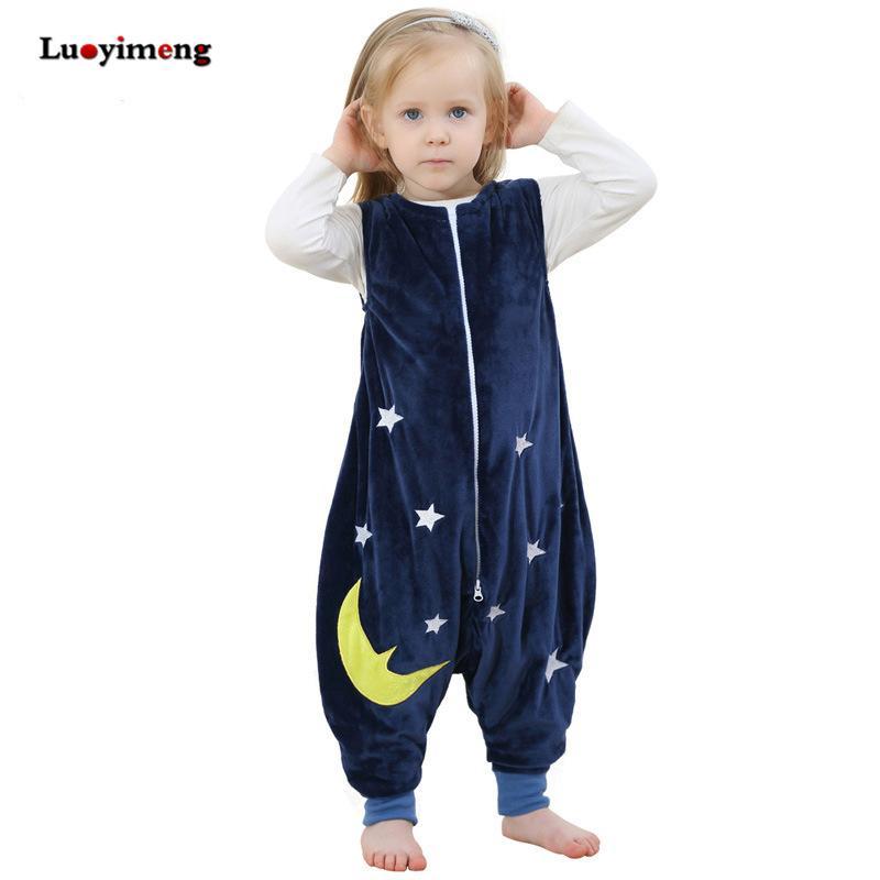 d86a71cd85e7 Kids Blanket Sleepers Baby Boys Jumpsuits Girls Cartoon Kigurumi ...