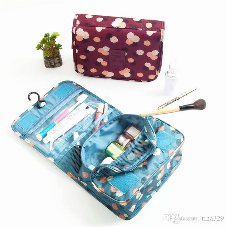 High quality and large capacity travel Storage bag Suspension type Wash bag Portable Cosmetic Bag T4H0398