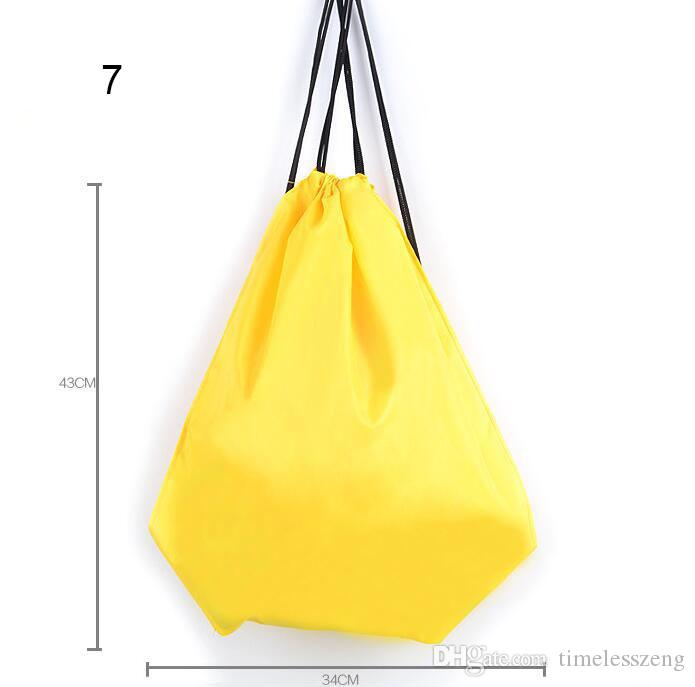 Multicolor casual storage bag kids beach bag waterproof oxford cloth toys drawstring backpack fitness swimming bag free ship