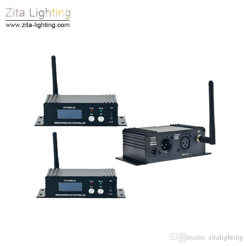 4Pcs/Lot Zita Lighting 2.4G Wireless DMX 512 Controller Transmitter Receiver Stage Lighting LCD Display Power Adjustable Repeater Controller