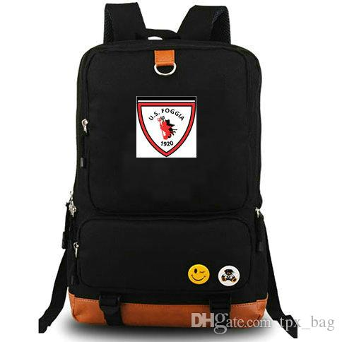 5b649508e4 Fastness Logo Backpack US Foggia Daypack Football Club Schoolbag Soccer  Team Rucksack Canvas School Bag Outdoor Day Pack Fastness Backpack Online  with ...