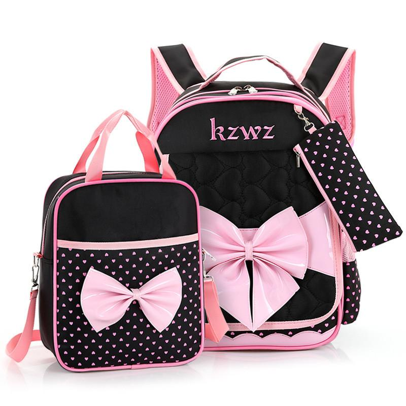 d6e8af22e0 Children School Bags Set High Quality School Backpack For Girls Waterproof  Satchel Kids Book Bag Cute Bow Ruceksack Mochila Laptop Bags Messenger Bags  From ...