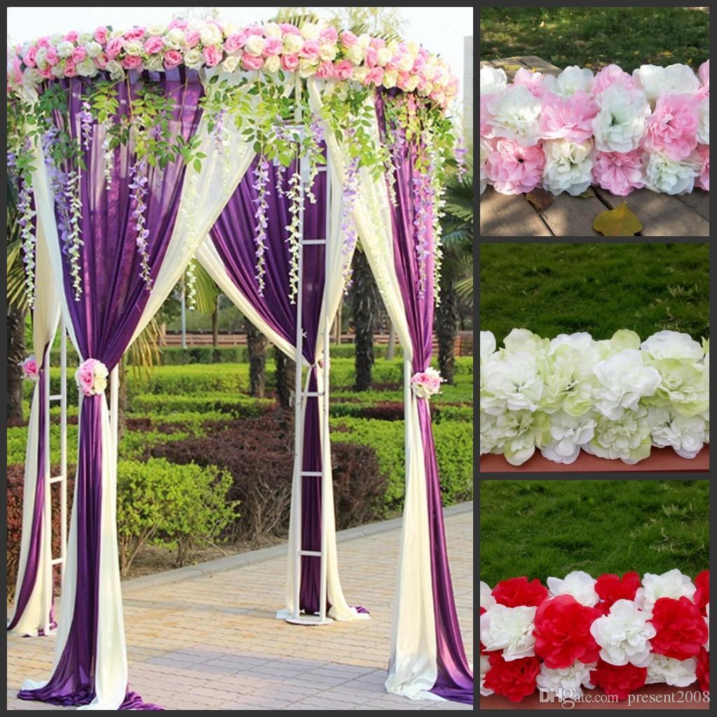 Diy Wedding Arch.Cheap Diy Wedding Decoration Props Simulation Silk Flowers Rose Wedding Arch Wedding Artificial Flower Road Led Flowers