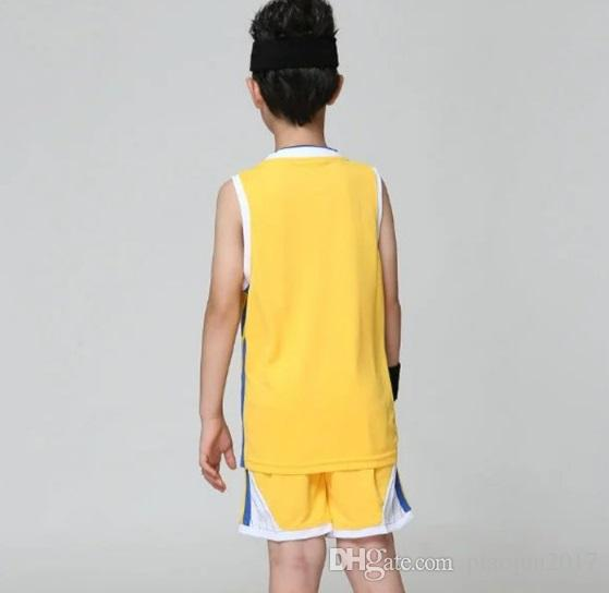 Children's Sports Clothing Sets Basketball Uniform Set School Students Sports Jersey and Shorts