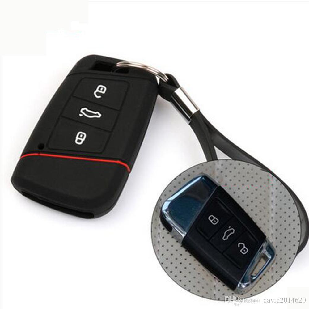 Keyless Remote Key Cover Fob Skin Case Car Key Cover for VW Volkswagen Jetta Bora Candy Golf Magotan Sagitar Polo Passat Touareg