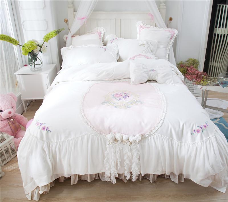 Großhandel Luxus Weiße Prinzessin Stil Spitze Stickerei 60 S