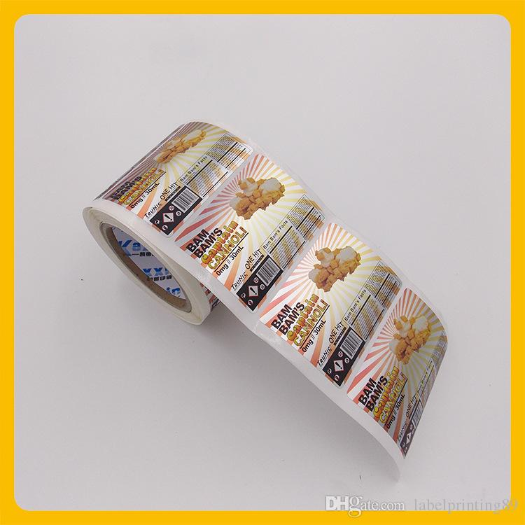 2018 customized silver matte food package self adhesive sticker roll