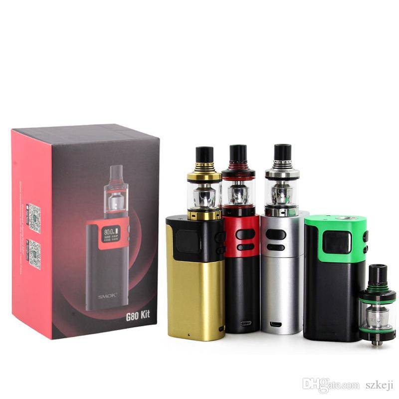 G80 starter Kit with Spirals Tank 2ml Top Refilling E Cigarette with Sprals Tank vs G150 QBOX Kit 8800030