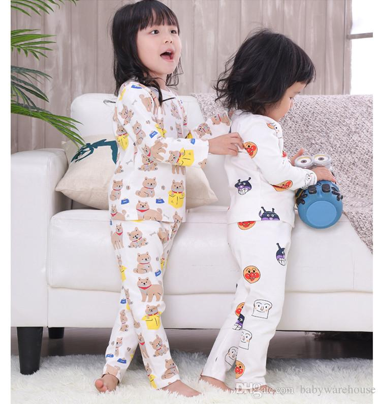 aaa30a61c Children Pajamas Fashion 2018 Kids Girls Clothing Casual Cartoon ...