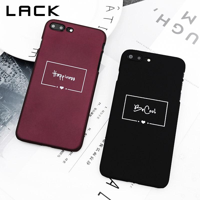 3affb70dd30fa Wine Red Couples Phone Case For iphone 7 Case For iphone 7 Plus Back Cover  Simple Letter Love Heart Cases Hard Slim Capa