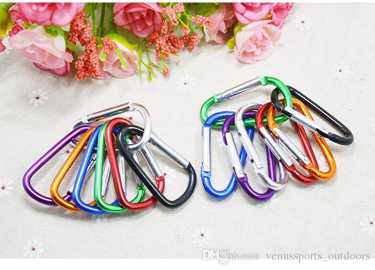 Outdoor Sports Travel Camping Climbing D Shape Aluminum Alloy Clip Key Chain Snap Carabiner Durable Hook
