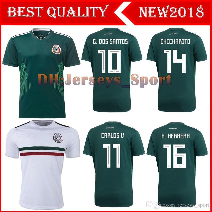 Thailand MEXICO SOCCER JERSEYS 17 18 19 World Cup CHICHARITO LOZANO ... 492430691